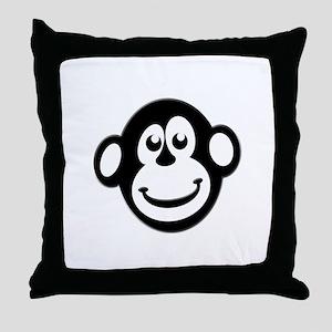 Monkey Monkey Throw Pillow