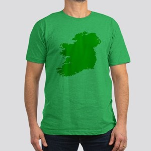 Map of Ireland Men's Fitted T-Shirt (dark)