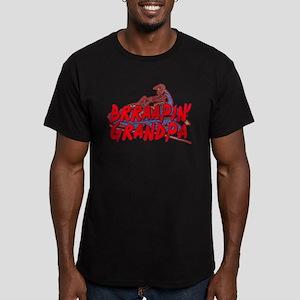 Brraapin' Grandpa Men's Fitted T-Shirt (dark)