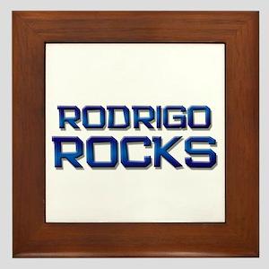 rodrigo rocks Framed Tile