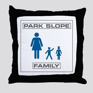 Park Slope Single Mom Throw Pillow