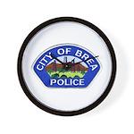Brea Police Wall Clock