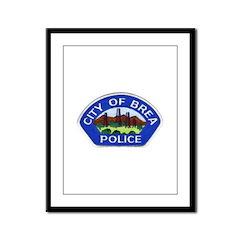 Brea Police Framed Panel Print
