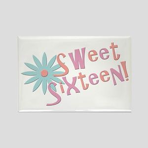 Sweet Sixteen Rectangle Magnet