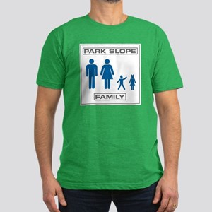 Park Slope Mommy and Daddy Men's Fitted T-Shirt (d