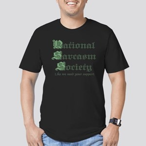 National Sarcasm Society Men's Fitted T-Shirt (dar