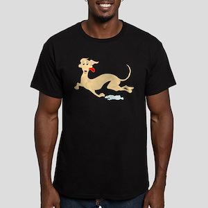 Fawn Greyhound Men's Fitted T-Shirt (dark)