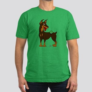 Red Doberman Pinscher Men's Fitted T-Shirt (dark)