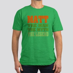 MATT - The Legend Men's Fitted T-Shirt (dark)