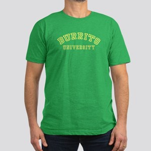 Burrito University Men's Fitted T-Shirt (dark)