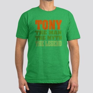 TONY - The Legend Men's Fitted T-Shirt (dark)