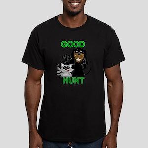 Raccoon Hunting Hound Men's Fitted T-Shirt (dark)