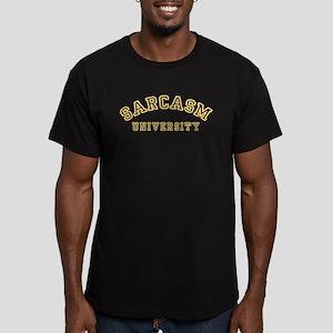 Sarcasm University Men's Fitted T-Shirt (dark)