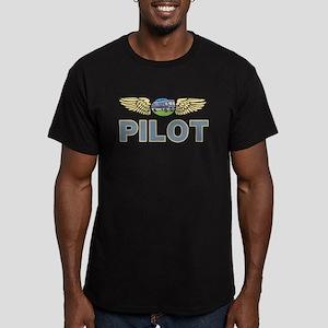 RV Pilot Men's Fitted T-Shirt (dark)