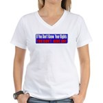 Know Your Rights Women's V-Neck T-Shirt