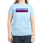 Know Your Rights Women's Light T-Shirt