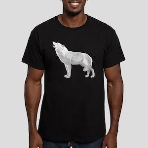 White Wolf Men's Fitted T-Shirt (dark)