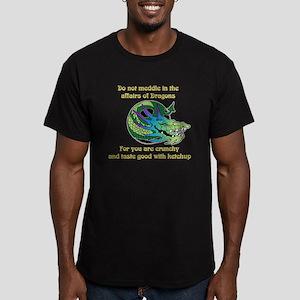 Dragon Crunchies Men's Fitted T-Shirt (dark)