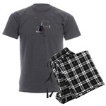 Helicopter Flying Aviator Men's Charcoal Pajamas