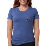 Helicopter Flying Aviator Womens Tri-blend T-Shirt