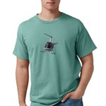 Helicopter Flying Aviat Mens Comfort Colors® Shirt