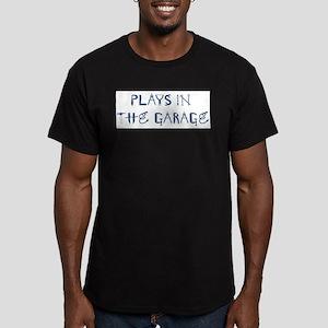 Plays in the Garage Men's Fitted T-Shirt (dark)