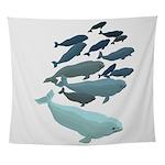 Beluga Whale Art Wall Tapestry
