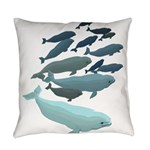 Beluga Whale Art Everyday Pillow