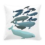 Beluga Whale Art Everyday Pillow