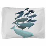 Beluga Whale Art Pillow Sham