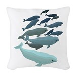 Beluga Whale Art Woven Throw Pillow