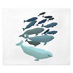 Beluga Whale Art King Duvet