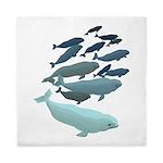 Beluga Whale Art Queen Duvet