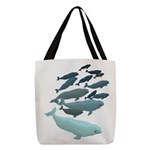Beluga Whale Art Polyester Tote Bag