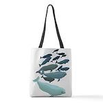Beluga Whale Art Polyester Tote Bag