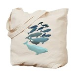 Beluga Whale Art Tote Bag