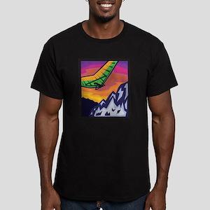 Mountain Hang Glider Men's Fitted T-Shirt (dark)