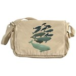 Beluga Whale Art Messenger Bag