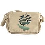 Beluga Whale Art Messenger Bag