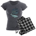 Beluga Whale Art Women's Charcoal Pajamas
