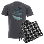 Beluga Whale Art Men's Charcoal Pajamas