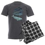 Beluga Whale Art Men's Charcoal Pajamas