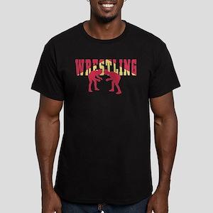 Wrestling 2 Men's Fitted T-Shirt (dark)