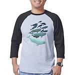Beluga Whale Art Mens Baseball Tee
