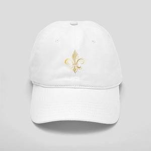 Gold Fleur De Lis Cap