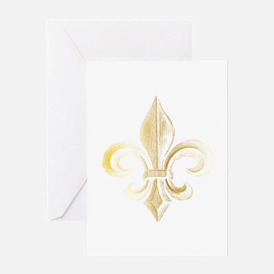 Gold Fleur De Lis Greeting Card