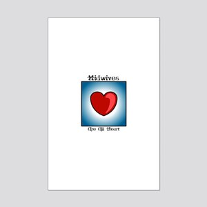 Midwives Are All Heart Mini Poster Print
