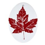 Cool Canada Souvenir Oval Ornament