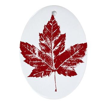 Cool Canada Souvenir Oval Ornament