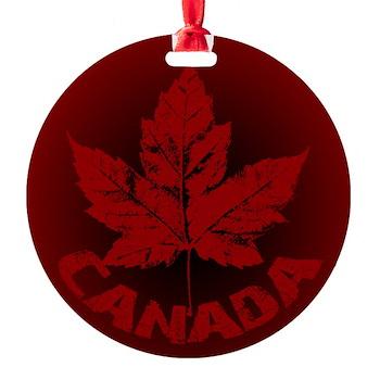 Cool Canada Souvenir Round Ornament